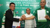 Resmi Jadi Sponsor PSMS Medan, Pelindo 1 Gelontorkan Dana Rp.1 Miliar