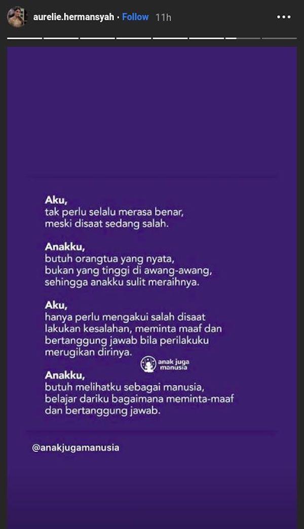 Curhat Terbaru Aurel Hermansyah di Medsos, Singgung KD Lagi?