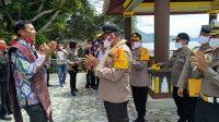 Kapolda Sumut Disambut Hangat Tiba di Samosir